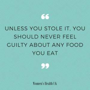 Food guilty quote